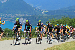 Annecy-Semnoz, France - Tour de France :: Stage 20 - 20-07-2013 - Peloton with Movistar and Sky leading on Cote du Pugot