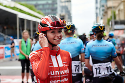 Liane Lippert (GER) before Stage 4 of 2020 Santos Women's Tour Down Under, a 42.5 km road race in Adelaide, Australia on January 19, 2020. Photo by Sean Robinson/velofocus.com