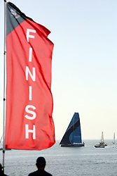 October 28, 2017 - Lisbon, Portugal - Vestas 11th Hour Racing boat wins Leg 1 from Alicante to Lisbon during the Volvo Ocean Race 2017-2018, in Lisbon, Portugal on October 28, 2017. (Credit Image: © Pedro Fiuza/NurPhoto via ZUMA Press)