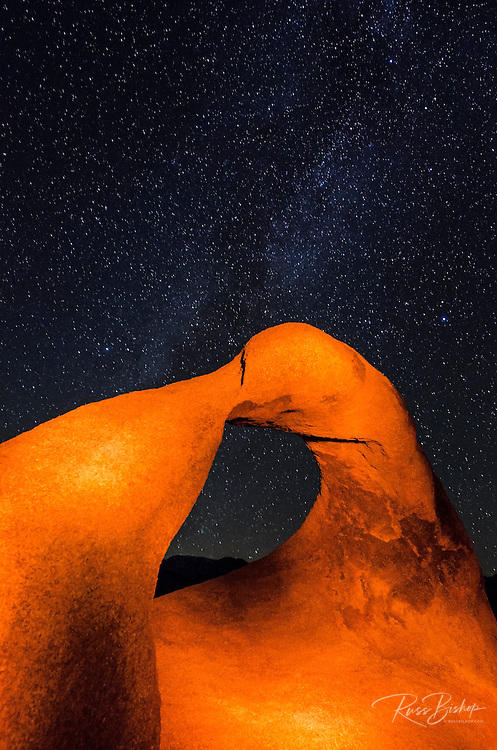 The Milky Way over Mobius Arch, Alabama Hills, Lone Pine, California USA