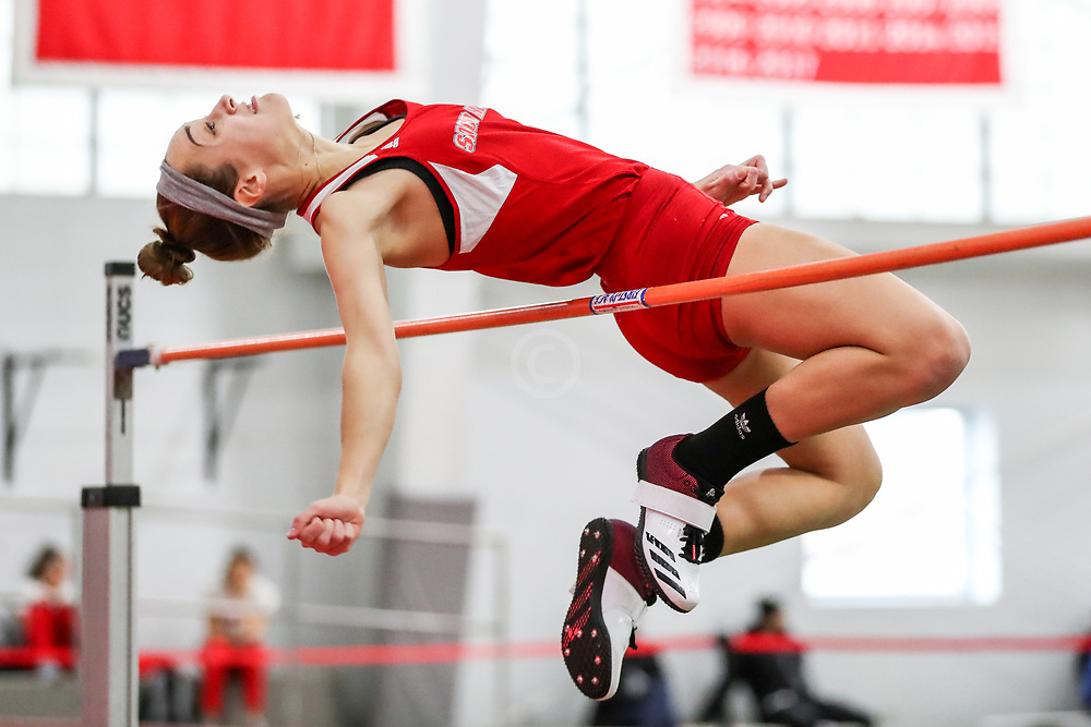 Sacred Heart womens high jump<br /> Multi-team Meet<br /> Indoor Track & Field