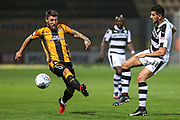 Forest Green Rovers Omar Bugiel(11) lays the ball off during the EFL Sky Bet League 2 match between Cambridge United and Forest Green Rovers at the Cambs Glass Stadium, Cambridge, England on 26 September 2017. Photo by Shane Healey.
