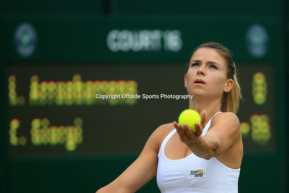 2 July 2015 - Wimbledon Tennis (Day 4) - Camila Giorgi (ITA) in action during her 2nd round match against Lara Arruabarrena (SPA) - Photo: Marc Atkins / Offside.