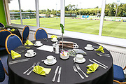 VIP dining during the EFL Sky Bet League 2 match between Forest Green Rovers and Grimsby Town FC at the New Lawn, Forest Green, United Kingdom on 17 August 2019.