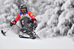 ZHANG Wenjing, LW12-1, CHN, Women's Slalom at the WPAS_2019 Alpine Skiing World Championships, Kranjska Gora, Slovenia