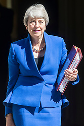 © Licensed to London News Pictures. 24/07/2019. London, UK. British Prime Minister Theresa May MP leave No.10 Downing Street for the last time to attend Prime Ministers Question Time at the Houses of Parliament. Boris Johnson MP was elected as the new Conservative party leader and Prime Minister. Photo credit: Ray Tang/LNP