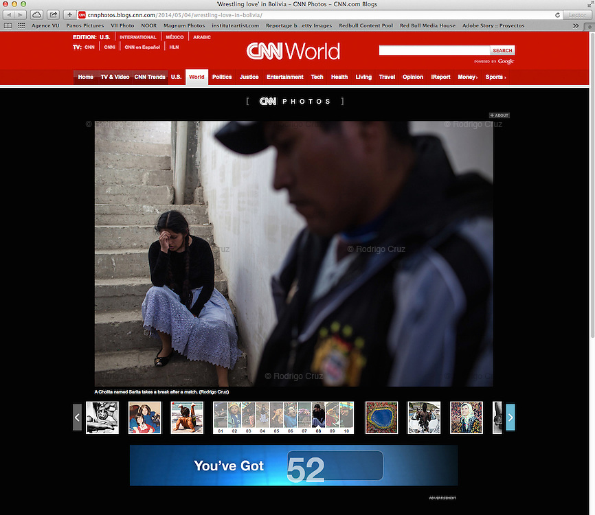 """Wrestling love"", in Bolivia, CNN, May 5, 2014. Photographs by Rodrigo Cruz"