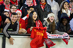 MELBOURNE, AUSTRALIA - Tuesday, July 23, 2013: Liverpool supporters during a training session at the Melbourne Cricket Ground ahead of their preseason friendly against Melbourne Victory. (Pic by David Rawcliffe/Propaganda)