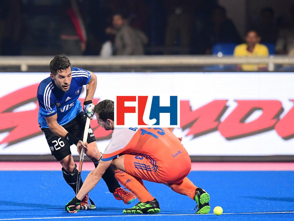Odisha Men's Hockey World League Final Bhubaneswar 2017<br /> Match id:08<br /> Netherlands v Argentina<br /> Foto: Sander Baart (Ned) in dual with Agustin Mazzilli (Arg) <br /> WORLDSPORTPICS COPYRIGHT FRANK UIJLENBROEK