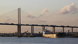© Licensed to London News Pictures. 06/09/2013. The Dartford Bridge and Dartford Tunnel have been closed today due to a suspicious incident. The closure caused traffic chaos and long tailbacks. Motorists were stuck on the bridge for hours. credit : Rob Powell/LNP