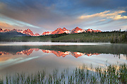 Little Redfish Lake at sunrise, Sawtooth National Recreation Area Idaho