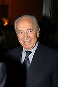 Shimon Peres member of parliament and Vice Premier, ex prime minister of Israel and member of Kadima political party, September 2006