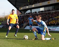 Burton Albion midfielder Jimmy Phillips (17) does it on his knee  - Photo mandatory by-line: Nigel Pitts-Drake/JMP - Tel: Mobile: 07966 386802 08/03/2014 - SPORT - FOOTBALL -  Kassam Stadium - Oxford - Oxford United v Burton Albion - Sky Bet League Two