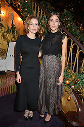 Left to right, KATHERINE POWER and ALEXA CHUNG at the UK launch of WhoWhatWear UK held at Loulou's, Hertford Street, London on 24th November 2015.