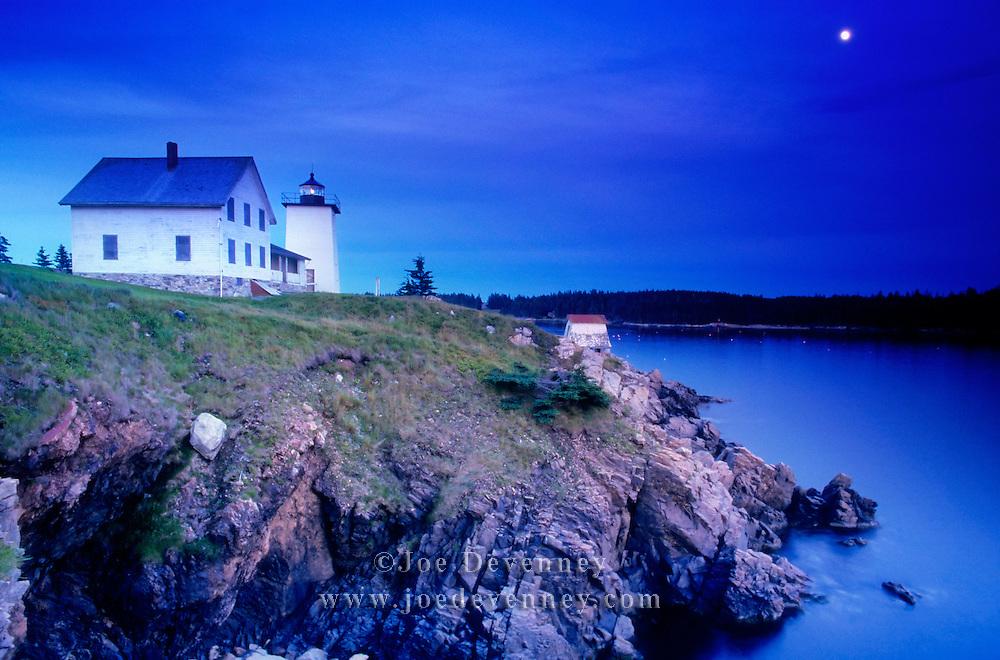 Hockamock Point Lighthouse. Swan's Island Maine