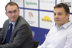 General manager of ACH Volley Rasto Oderlap and New head coach of ACH Volley Igor Kolakovic at  his introduction at press conference, on May 26, 2010 in ACH, Ljubljana, Slovenia. (Photo by Vid Ponikvar / Sportida)