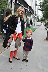 KIM HERSOV and her son AIDAN at the launch of the Natalia Dress, inspired by Natalia Vodianova to benefit her Naked Heart Foundation held at Caramel Baby&Child, 77 Ledbury Road, London W11 on 16th May 2012.