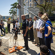 HOLLYWOOD, FL - [SEPTEMBER 13, 2017]: <br /> Police Chief Tomas Sanchez addresses the media outside of a rehabilitation center in the city where 6 patients died on September 12, 2017 in Hollywood, United States. (Photo by Angel Valentin/Getty Images)