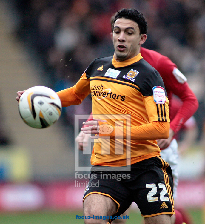 Picture by Richard Gould/Focus Images Ltd +447814 482222.16/03/2013.Gedo of Hull City in action during the npower Championship match at the KC Stadium, Kingston upon Hull.