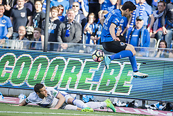 May 14, 2017 - Brugge, BELGIUM - Anderlecht's Uros Spajic and Club's Dorin Rotariu fight for the ball during the Jupiler Pro League match between Club Brugge and RSC Anderlecht, in Brugge, Sunday 14 May 2017, on day 8 (out of 10) of the Play-off 1 of the Belgian soccer championship. BELGA PHOTO LAURIE DIEFFEMBACQ (Credit Image: © Laurie Dieffembacq/Belga via ZUMA Press)
