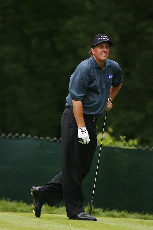 Phil Mickelson of the US during the first round at the US Open Golf Championship at Winged Foot Golf Club in Mamaroneck New York Thursday 15 June 2006.