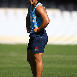 DURBAN, SOUTH AFRICA - MARCH 02: Lalakai Foketi of the Waratahs during the Waratahs captains run at Growthpoint Kings Park on March 02, 2018 in Durban, South Africa. (Photo by Steve Haag/Gallo Images)