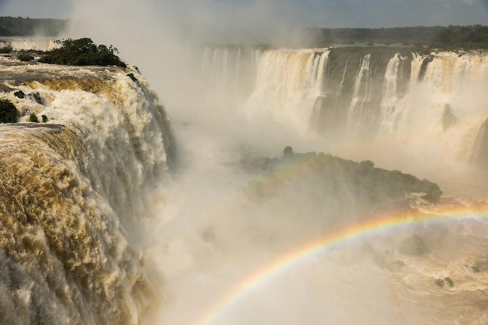 Iguazu falls at Devils throat, Foz do Iguazu, Brazil.