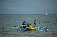 Pumpboat at Labilabi village, Halmahera, Indonesia.<br />