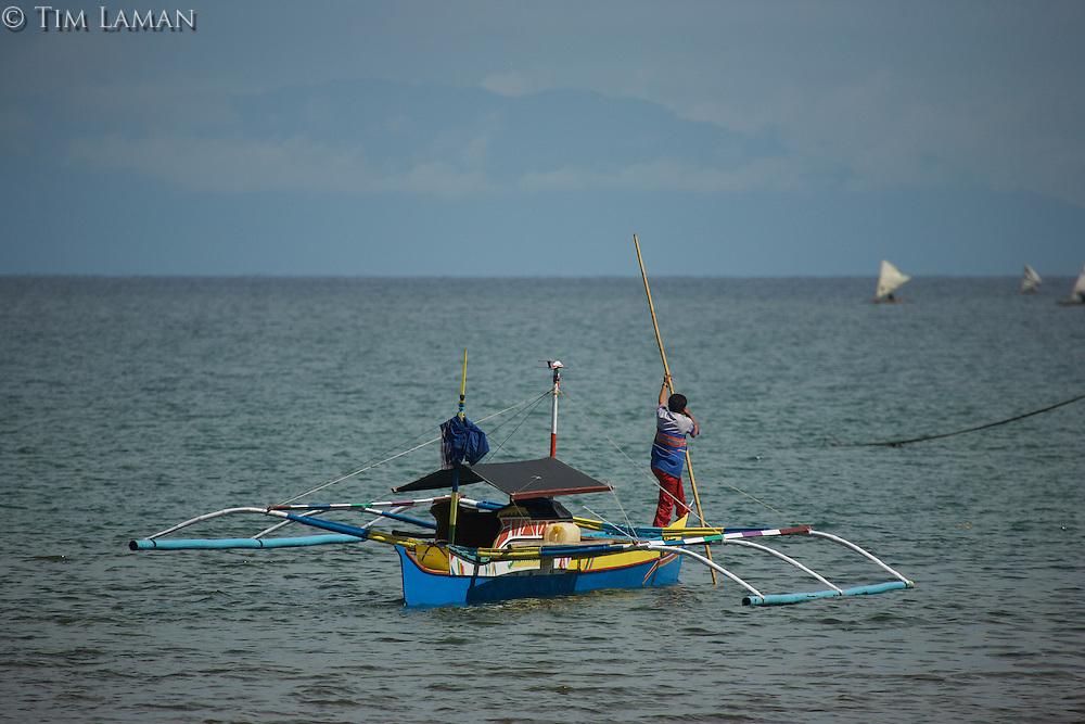 Pumpboat at Labilabi village, Halmahera, Indonesia.<br />(This is the vessel we took from Foli to Labilabi)