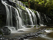 "Purakaunui Falls, in the Catlins District, South Island, New Zealand. Published in ""Light Travel: Photography on the Go"" by Tom Dempsey 2009, 2010."