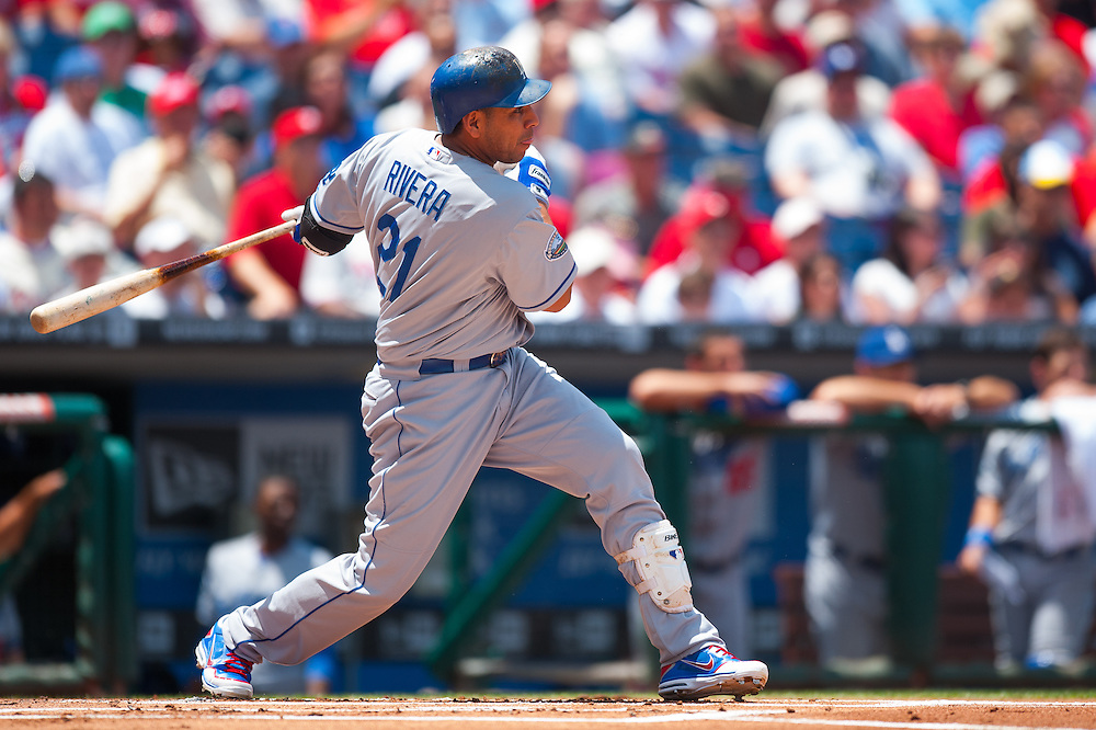 PHILADELPHIA, PA - JUNE 07: Juan Rivera #21 of the Los Angeles Dodgers bats during the game against the Philadelphia Phillies at Citizens Bank Park on June 7, 2012 in Philadelphia, Pennsylvania. (Photo by Rob Tringali) *** Local Caption *** Juan Rivera