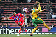 London - Tuesday, January 1st, 2008: Clinton Morrison (L) of Crystal Palace and Jon Otsemobor (R) of Norwich City during the Coca Cola Championship match at Selhurst Park, London. (Pic by Mark Chapman/Focus Images)