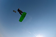 GOLD COAST, AUSTRALIA - SEPTEMBER 20:  Sean Hammill during a freestyle kiteboarding session at Currumbin Alley on September 20, 2011 on the Gold Coast, Australia.  (Photo by Matt Roberts/Getty Images)