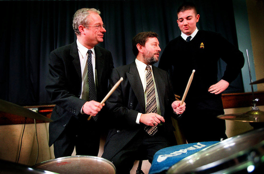 Chris Smith MP and David Blunkett fail to impress pupil Jan 1999.at the Heston Community School in Hounslow West London