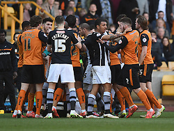 Tempers flair amongst Wolves and Watford players - Photo mandatory by-line: Paul Knight/JMP - Mobile: 07966 386802 - 07/03/2015 - SPORT - Football - Wolverhampton - Molineux Stadium - Wolverhampton Wanderers v Watford - Sky Bet Championship