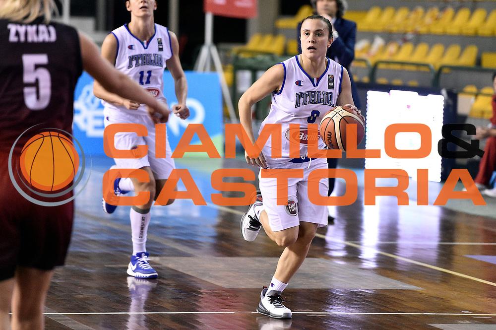 DESCRIZIONE : Lucca Nazionale Italia Femminile Qualificazione Europeo Femminile Italia Albania Italy Albania<br /> GIOCATORE : Giulia Gatti<br /> CATEGORIA : palleggio<br /> SQUADRA : Italia Italy<br /> EVENTO : Qualificazione Europeo Femminile<br /> GARA : Italia Albania Italy Albania<br /> DATA : 21/11/2015 <br /> SPORT : Pallacanestro<br /> AUTORE : Agenzia Ciamillo-Castoria/GiulioCiamillo<br /> Galleria : FIP Nazionali 2015<br /> Fotonotizia : Lucca Nazionale Italia Femminile Qualificazione Europeo Femminile Italia Albania Italy Albania