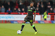 Forest Green Rovers Reece Brown(10) during the EFL Sky Bet League 2 match between Crawley Town and Forest Green Rovers at The People's Pension Stadium, Crawley, England on 6 April 2019.