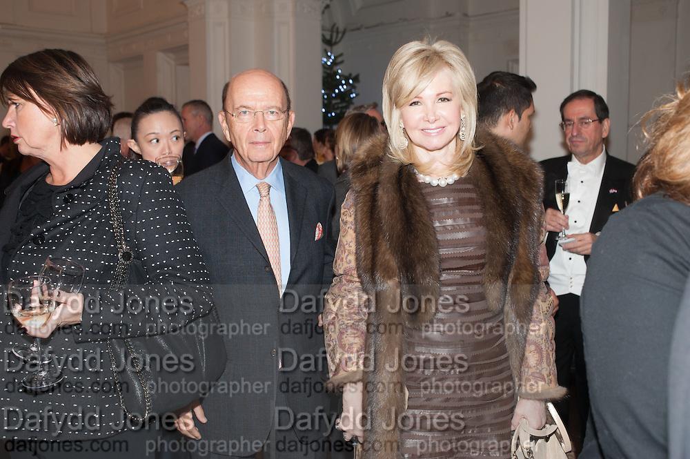 WILBUR ROSS; HILARY GEARY, Mariko Mori opening, Royal Academy Burlington Gardens Gallery. London. 11 December 2012.