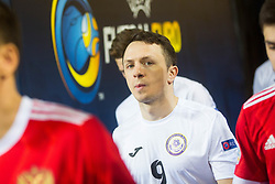 Aleksandr Dovgan of Kazakhstan during futsal match between Russia and Kazakhstan in Third place match of UEFA Futsal EURO 2018, on February 10, 2018 in Arena Stozice, Ljubljana, Slovenia. Photo by Ziga Zupan / Sportida