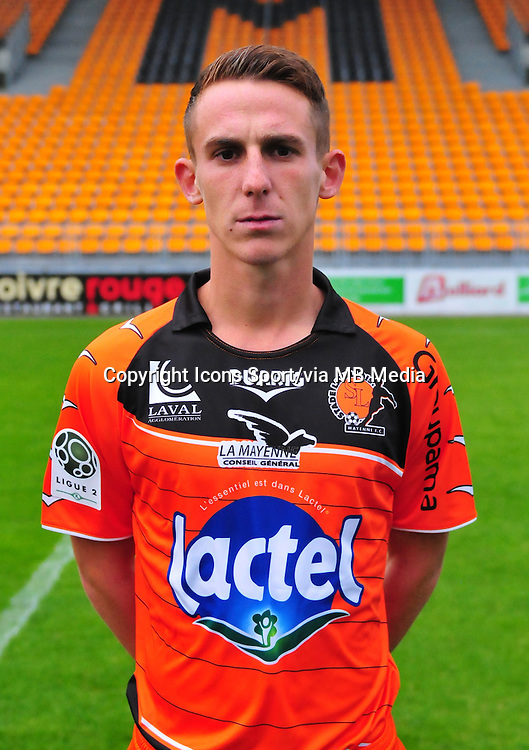 Kevin PERROT - 19.09.2013 - Photo Officielle - Laval -<br /> Photo : Philippe Le Brech / Icon Sport
