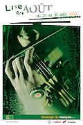 Live en Août 2003 - affiche 40 x 60 - Agence Concept