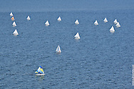 Aerial view of Sunfish World Championship 2012, St. Petersburg, Florida