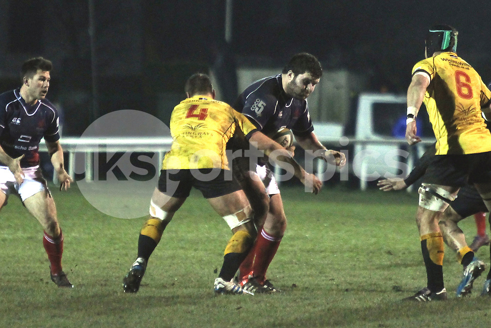 Max Maidment in action during the Green King IPA Championship match between London Scottish &amp; Cornish Pirates at Richmond, Greater London on 16th January 2015<br /> <br /> Photo: Ken Sparks | UK Sports Pics Ltd<br /> London Scottish v Cornish Pirates, Green King IPA Championship, 16h January 2015<br /> <br /> &copy; UK Sports Pics Ltd. FA Accredited. Football League Licence No:  FL14/15/P5700.Football Conference Licence No: PCONF 051/14 Tel +44(0)7968 045353. email ken@uksportspics.co.uk, 7 Leslie Park Road, East Croydon, Surrey CR0 6TN. Credit UK Sports Pics Ltd