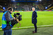 Sports pundit Gary Lineker doing a piece to camera ahead of the Champions League round of 16, leg 2 of 2 match between Borussia Dortmund and Tottenham Hotspur at Signal Iduna Park, Dortmund, Germany on 5 March 2019.