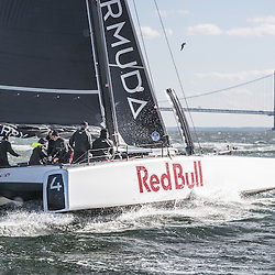 Jimmy Spithill testing the F4 race yacht in New York on October 23, 2016