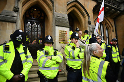 © Licensed to London News Pictures. 19/03/2019. London, UK.  The scene where Yellow Vest Protestors have stormed the Attourney General's Office in Westminster. Photo credit: Ben Cawthra/LNP