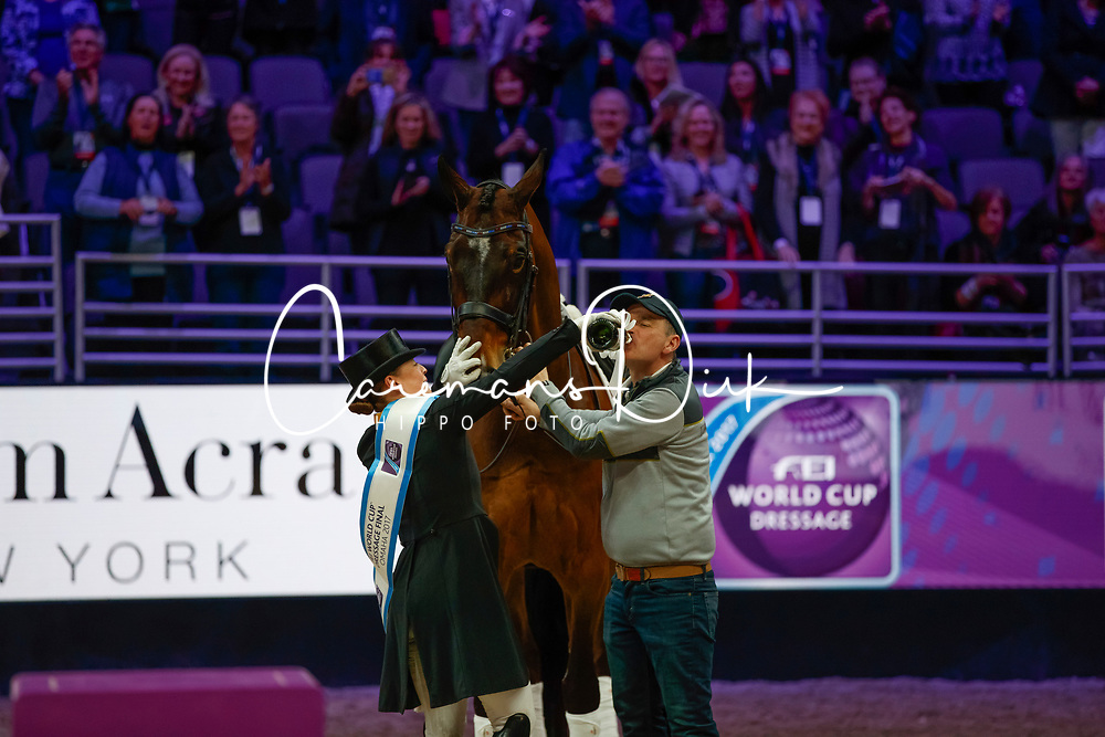 Werth Isabell, GER, Weihegold OLD<br /> Grand Prix Freestyle<br /> Longines FEI World Cup Dressage, Omaha 2017 <br /> © Hippo Foto - Stefan Lafrentz<br /> 01/04/2017