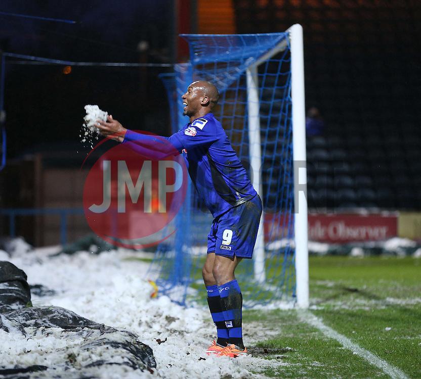 Rochdale's Calvin Andrew celebrates scoring Rochdale's fourth goal - Photo mandatory by-line: Matt McNulty/JMP - Mobile: 07966 386802 - 17.01.2015 - SPORT - Football - Rochdale - Spotland Stadium - Rochdale v Crawley Town - Sky Bet League One