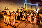 Oxchùc, church of Santo Tomàs, where maya tzeltales still honour the old gods with ceremonies performed by traditional religious autoridades.