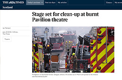 The Times; Fire in Glasgow city centre